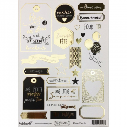 Swirlcards - Collection Reflet d'Or - Etiquettes Ocre Dorée