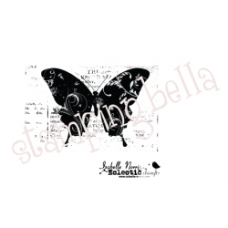 Stamping Bella - Tampon non monté - Eclectic Butterfly on Print