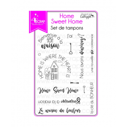 4enSCRAP - Tampons clear -  Janvier 2018 - Set no 130 - Home Sweet Home