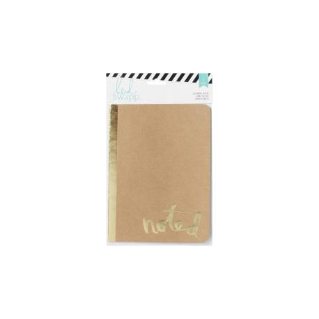 Heidi Swapp - Carnet de notes - Couverture kraft et doré