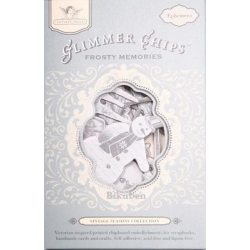 Tattered Angels - Glimmer Chips - Vintage Seasons Collection - Frosty Memories