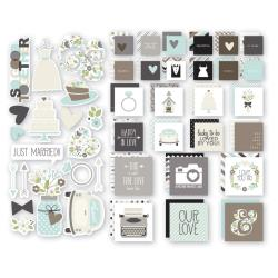 Simple Stories - Snap Wedding - Etiquettes et die-cut - Wedding
