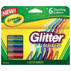 Crayola - Glitter Markers - 6 couleurs