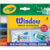 Crayola - Window Mega Markers - School Colors