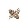 Ephemeria - Breloque Papillon Bronze antique