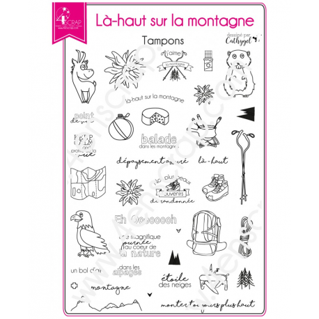 4enSCRAP - Tampons clear - Collection été 2017 - Set no 104 - Là-haut sur la montagne