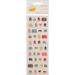 Amy Tangerine - Puffy Stickers - Remarks