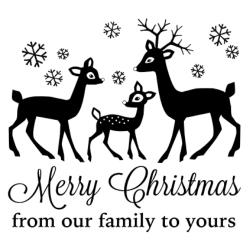 Gourmet Rubber Stamps - Cling - Merry Christmas