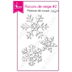 4enSCRAP - Collection hiver 2018 - Matrice No 454 - Flocons de neige 2