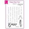 4enSCRAP - Tampons clear -  Hiver 2018 - Set no 165 - Happy New Year