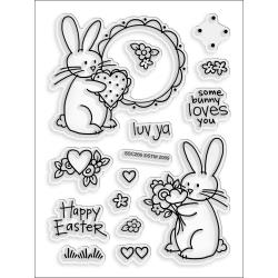 Stampendous - Perfectly clear stamps - Luv Bunnies