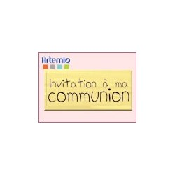 Artemio - Tampon Bois - Invitation à ma communion
