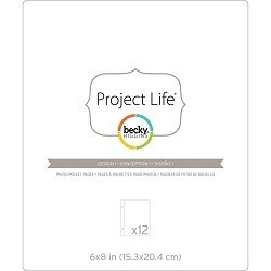 Project Life - Becky Higgins - Pochettes protectrices - Design 1