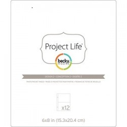 Project Life - Becky Higgins - Pochettes protectrices - Design 2