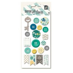 MME - Now and Then - Jen Allyson - Decorative Buttons - Documented