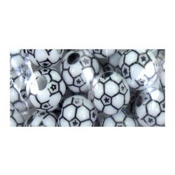 Clubhouse Crafts - Perles ballon de football - 30 pces