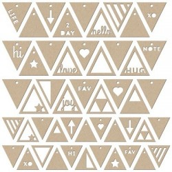 Jilllibean Soup - Die-Cut - Kraft Tags - Triangles