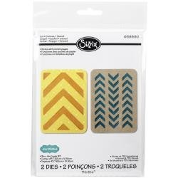 Sizzix - Lori Whitlock - Thinlits - Dies - Cartes 3 X 4 - Chevrons
