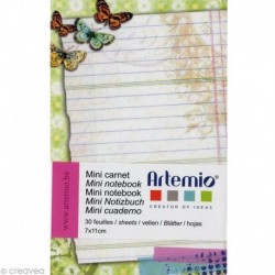 Artemio - Mini Carnet de notes - Vintage