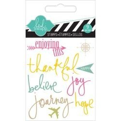 Heidi Swapp - Mini Clear stamp -  Journey