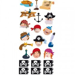 Artemio - Stickers 3D - Pirates