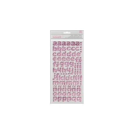 American Crafts - Alphabet thickers - Twinkle Bubblegum