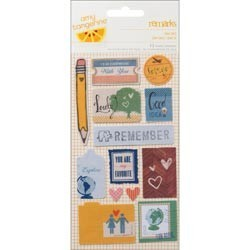 American Crafts - Amy tangerine - Stickers  en tissu - Oh Yes!