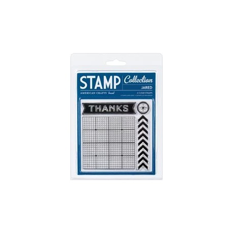 American Crafts - Clear Stamps - Collection Jared
