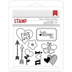 American Crafts - Tampons clear - Saint-Valentin