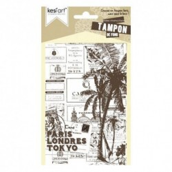 Kesi'art - Cling Rubber Stamp - PostalCard