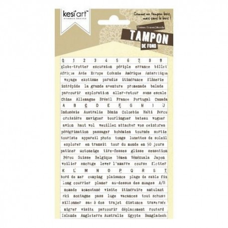 Kesiart - Cling Rubber Stamp - TravelWords