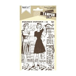 Kesiart - Cling Rubber Stamp - Fashion