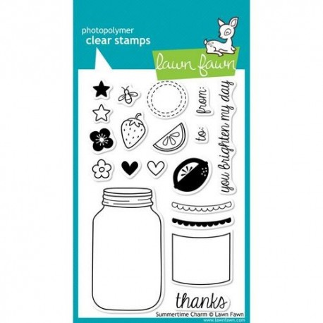 Lawn Fawn - Clear Stamps - Summertime Charm