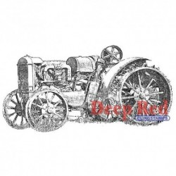 Deep Red - Cling Stamp - Rusty Tractor