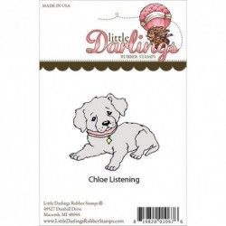 Litttle Darlings - Rubber Stamp - Chloe Listening