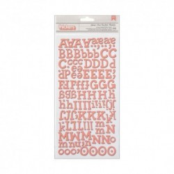American Crafts - Alphabet Thickers - Sunrise