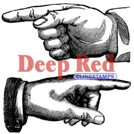 Deep Red - Cling stamp - Point the way