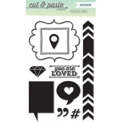 MME - Clear Stamp - Cut et Paste - LOVED