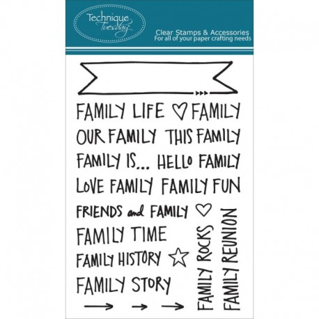 Technique Tuesday - Tampon clear - Family Banners by Ali Edwards