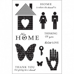 Clear Magic Stamps - Woodware - Heart and Home