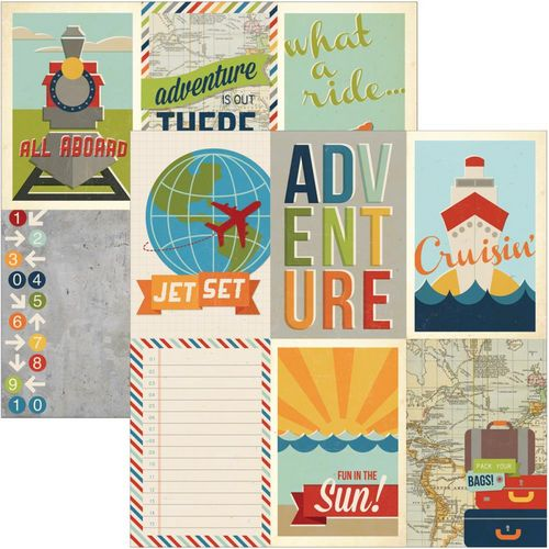 Simple Stories - Urban Traveler - 4X6 Vertical Journaling Card Elements