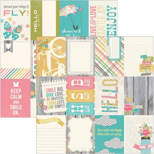 Simple Stories - Vintage Bliss - 3X4 journaling card Elements