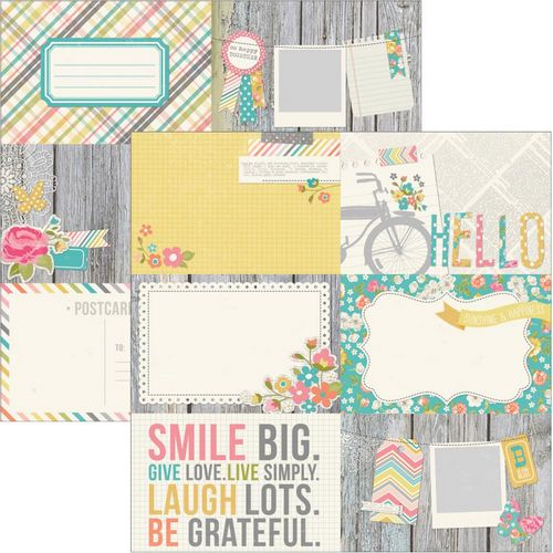 Simple Stories - Vintage Bliss - 4X6 journaling card Elements