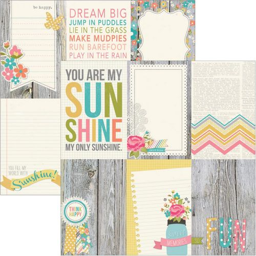 Simple Stories - Vintage Bliss - 4X6 Vertical journaling card Elements