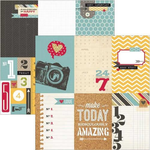 Simple Stories - 24/Seven - 4X6 Vertical Journaling Card Elements