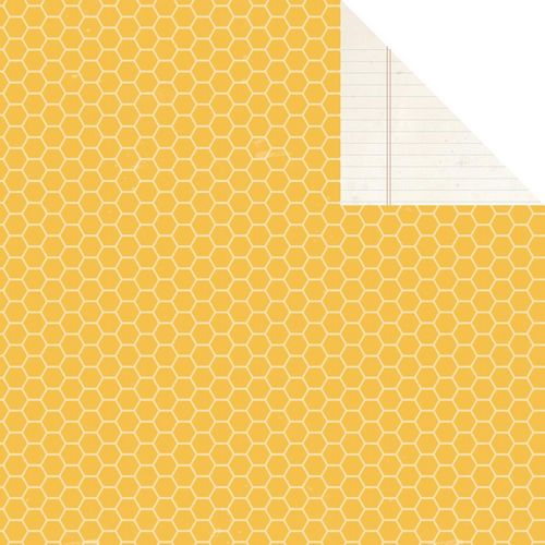 Simple Stories - 24/Seven - Yellow Honeycomb/Notebook