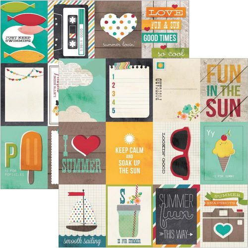 Simple Stories - I heart summer - 3X4 Journaling Card Elements