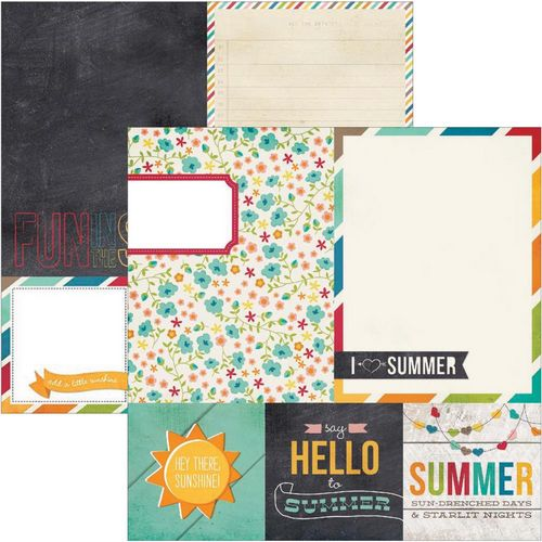 Simple Stories - I heart summer - 4X4 Quote & 6X8 Photo Mat Elements