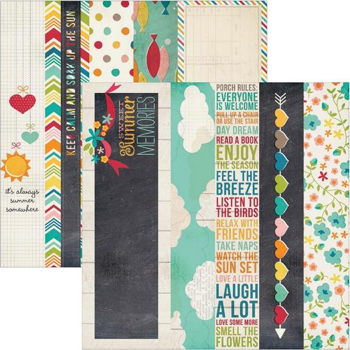 Simple Stories - I heart summer - 2X12 Border & 4X12 Title Strip Elements
