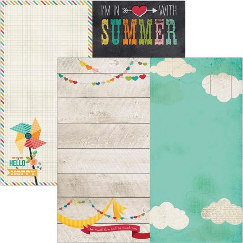 Simple Stories - I heart summer - 6X12 page Elements